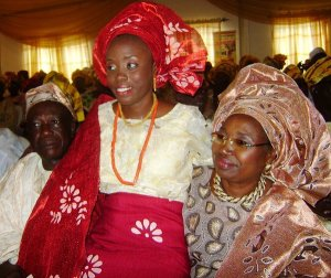 A Bride with Grooms Parents